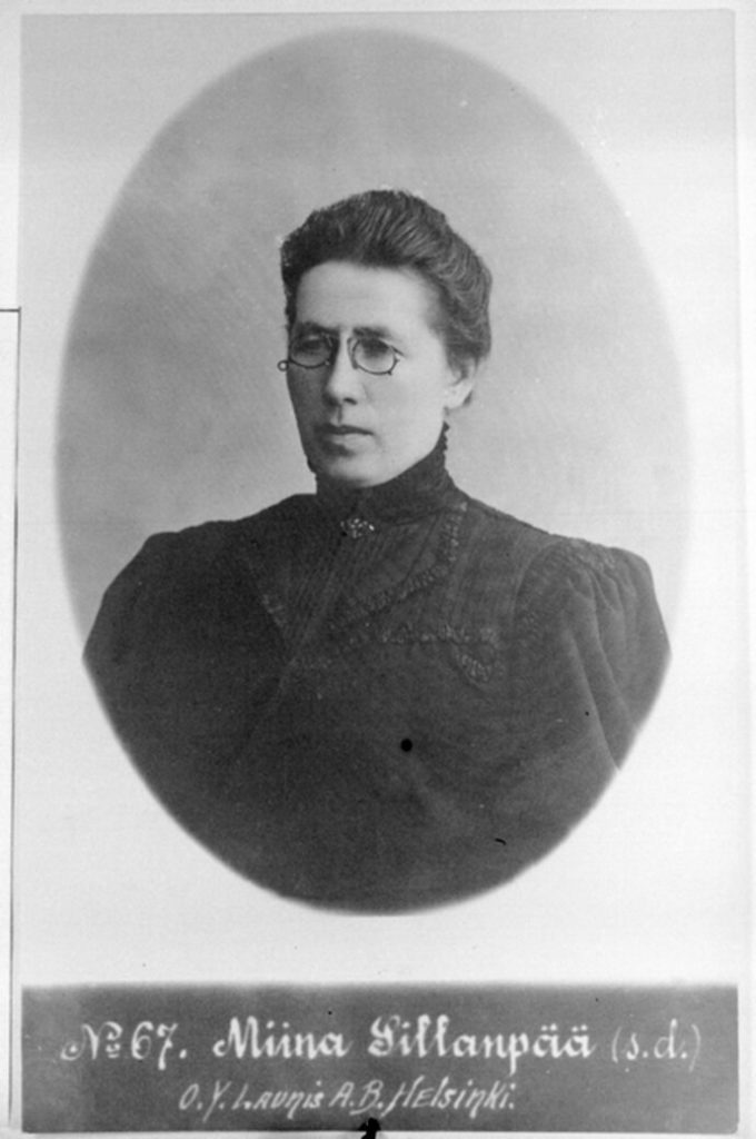 Muotokuva kansanedustaja Miina Sillanpäästä.